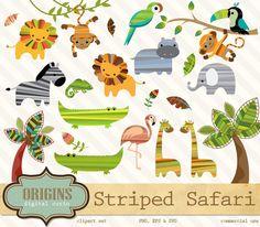 Safari Animals Clipart and Vectors by Origins Digital Curio on Creative Market