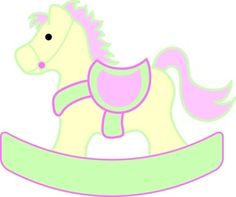 Rocking Horse Clipart Image - Rocking horse pony for a toddler to ride