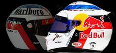 Vergne col casco replica di Alesi, a sua volta replica di De Angelis