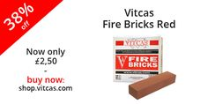 Vitcas red Fire Brick now from £1.50!  More information: http://shop.vitcas.com/vitcas-fire-bricks-red-540-p.asp.