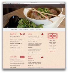 CO | Website – lunch + dinner menu  eatatCO.com