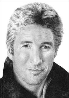 Drawing On Creativity Richard Gere Actor Portrait Celebrity Original Graphite Pencil Drawing Realistic Richard Gere, Portrait Au Crayon, Pencil Portrait, Celebrity Drawings, Celebrity Portraits, Pencil Drawing Tutorials, Pencil Drawings, Pencil Art, Drawing Sketches