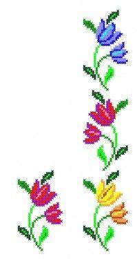 Poze FL061 Cross Stitch Bookmarks, Beaded Cross Stitch, Cross Stitch Borders, Cross Stitch Flowers, Cross Stitch Designs, Cross Stitching, Cross Stitch Embroidery, Cross Stitch Patterns, Embroidery Flowers Pattern