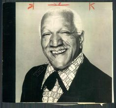 Jon Elroy Sanford (December 1922 – October known professionally as Redd Foxx, was an American comedian and actor, best remembered for his explicit comedy records and his starring role on the sitcom Sanford and Son. Redd Foxx, Sanford And Son, Black Comics, Man Humor, Famous Faces, Celebrity Pictures, Black Art, Black History