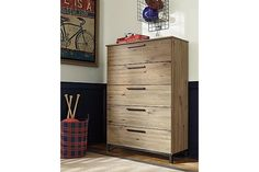 Beige Brown Dexifield Chest of Drawers View 1
