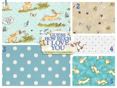 Baby Boy Crib Bedding- Guess How Much I Love You -Blanket, Sheet & Skirt