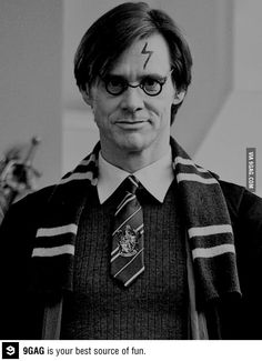Harry Potter aka Jim Carrey in Yes Man Jim Carrey, The Truman Show, Heath Ledger, Kevin Hart, Chuck Norris, Zayn Malik, Funny Images, Funny Pictures, Funny Pics