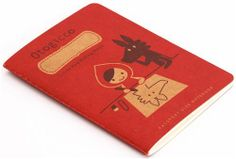 red DecoleRed Riding Hood mini notebook exercise book