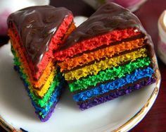 Popular items for rainbow cake on Etsy