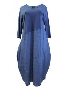 Damen Kleid mit Denim, blau von Vincenzo Allocca bei www.meinkleidchen.de