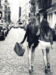 NYC, best friends, and moto jackets. This picture just makes me happy!