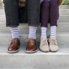 ee23c584c5 Rejuva Stripe 15-20 mmHg Compression Socks in Coral for men and women -  BrightLife