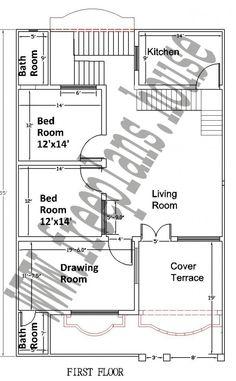 35x55 Feet House Plan