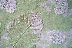 Raised Plaster Formosa Palm Leaf Stencil Wall Stencil Painting Stenc | VictoriaLarsen - Craft Supplies on ArtFire