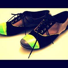 DİY shoes my design :)) neon neonn neoooon :))
