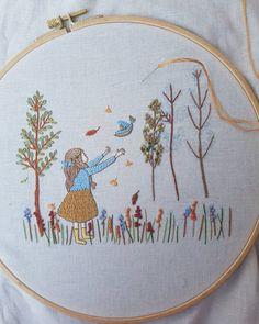 Beautiful realistic embroidery