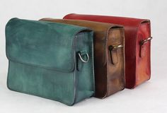 Handmade retro vintage leather Satchel Bag crossbody Shoulder Bag for girl women