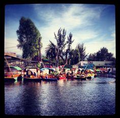 Trajineras, Xochimilco. Ciudad de México