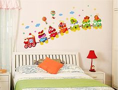 ufengke® Cartoon-Eis Zug Wandsticker,Kinderzimmer Babyzimmer Entfernbare Wandtattoos Wandbilder ufengke décor http://www.amazon.de/dp/B00S1I4IIS/ref=cm_sw_r_pi_dp_9RPNwb0QEKDP9