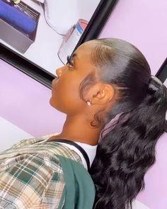 Hair Ponytail Styles, Clip In Ponytail, Black Girl Braided Hairstyles, Sleek Ponytail, Black Women Hairstyles, Curly Hair Styles, Ponytail With Weave, Black Girl Ponytails, Invisible Ponytail