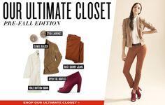 el estilo importa: Ultimate closet:pre fall edition