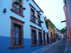 An unusual shade of blue for San Miguel de Allende, Mexico