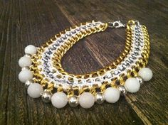 Goldmine necklace silver/gold/white