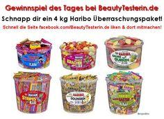 ❤ Gewinne 4Kg Haribo bei www.Beautytesterin.de ❤ Schnell auf www.facebook.com/Beautytesterin.de teilnehmen und gewinnen!