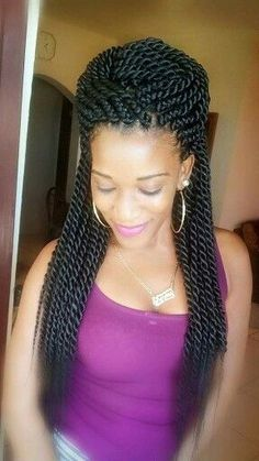 Twist Braids Hairstyles Mesmerizing Two Strand Twists Braids Protective Hairstyle  Pinterest  Twisted