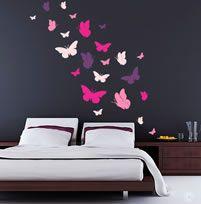 Butterflies (WANB6) Butterfly Wall Decals, Bird Wall Art, Home Wall Colour, Custom Wall, Wall Art Designs, Colorful Pictures, Wall Stickers, Custom Design, Butterflies