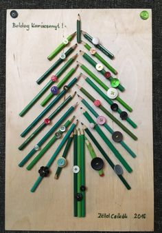 pencil christmastree -cerkarácsony
