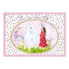 Malbuch A5 Flirr, die kleine Elfe. Liebevoll illustriert von Daniela Drescher. Hergestellt in Deutschland. https://www.graetz-verlag.de/malbuch-flirr-die-kleine-elfe