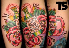 poison tattoo bottle - Google Search