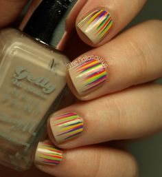 The Nailasaurus: Neon Waterfall Nail Art