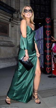 Glamorous: The one-time Made In Chelsea star was last seen at Revlon's Choose Love Masquer...