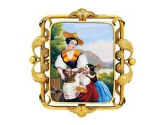 An Antique Hand Painted Portrait Miniature and Gold Brooch « Dupuis Fine Jewellery Auctioneers