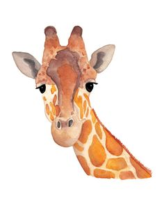 Watercolor Giraffe  8x10 Print by ErinPhippsDesigns on Etsy, $12.00
