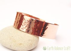 Arthritis Raw Copper Bracelet - This hand made cuff has a rustic feel, is tactile and warm in design inspired by the beauty in tree bark.