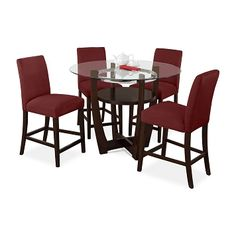 Alcove Red II Dining Room 5 Pc. Dinette - Value City Furniture $599.99