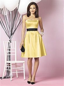 Styles of Yellow Bridesmaids Dresses with Sleeves