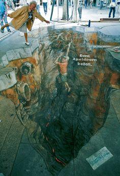 Julian Beever 3D pavement art