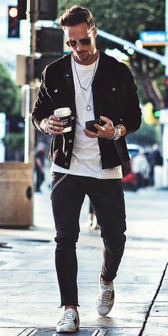 8aafcc86eede 26 Best Rocker style men images | Man fashion, Man style, Clothing