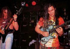 Chuck Schuldiner and Paul Masvidal (DEATH)