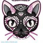 Miss Cherry Martini - Pink Cat - Sticker / Decal: Officially Licensed Sticker. Decal measures approximately x Skull Tattoos, Cat Tattoo, Makeup Tattoos, Sugar Skull Cat, Sugar Skulls, Diamond Tattoos, Day Of The Dead Skull, Skull Fashion, Punk Fashion