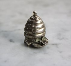Vintage Sterling Silver Beehive Charm
