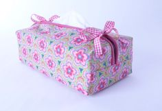 Tissue Box Cover msewing tutorial by Debbie Shore