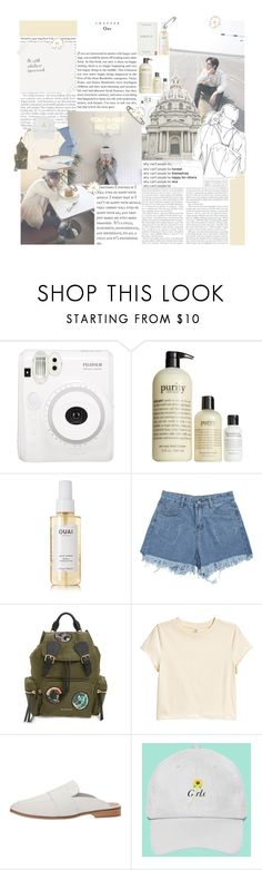 """gettin' by"" by luhansolo ❤ liked on Polyvore featuring Fuji, philosophy, Gypsy, Ouai, Burberry, Free People, Summer, kpop and fashionset"