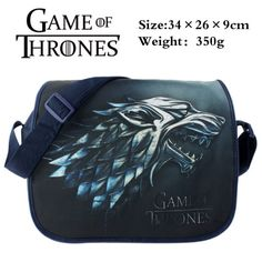 Mother Of Dragons GOT TV Game Of Thrones Winter Is Coming Stark Waterproof Leather Folded Messenger Nylon Bag Travel Tote Hopping Folding School Handbags