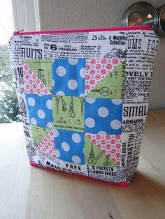 Pretty little pouch swap by lindakl, via Flickr