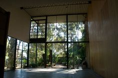 Oh those windows!...from inside the Eames House